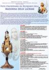 Visita straordinaria del Reliquiario della Madonna delle Lacrime di Siracusa.